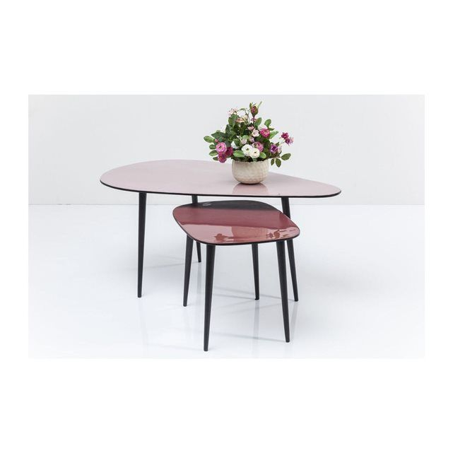 Tables Basses La Costa 2 X2f Set Kare Design21 000000kg40 Cm X 90 Cm X 53 Cmaluminium Mesas De Cafe Muebles Para Tienda Muebles