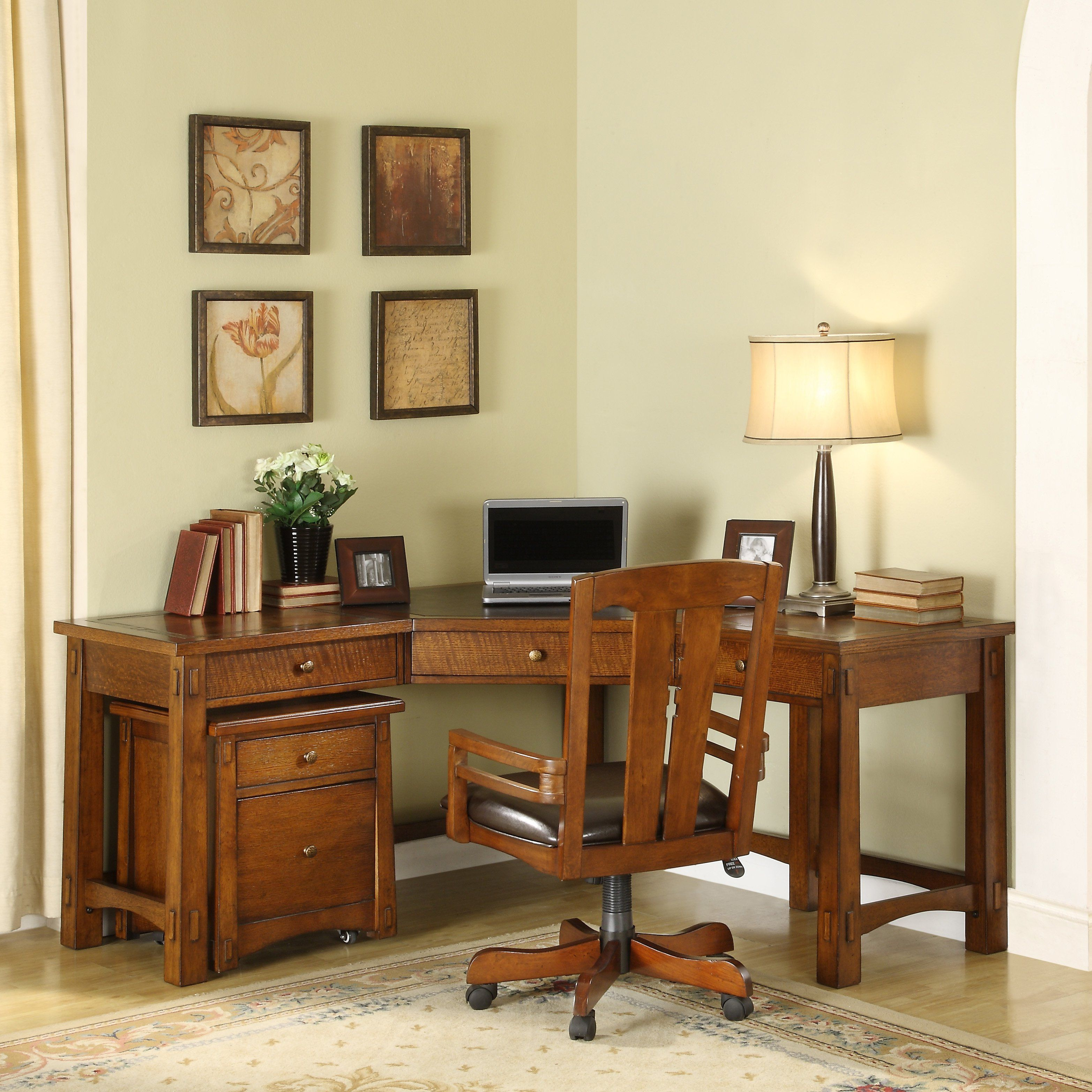 99 Mission Oak Corner Desk Rustic Home Office Furniture Check More At Http