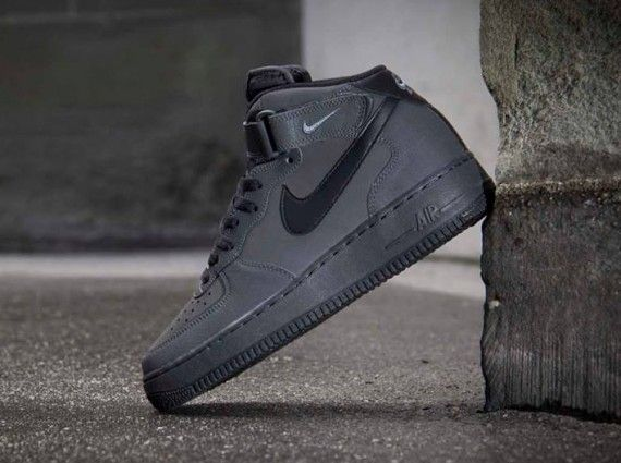 best loved 20703 413ad Nike Air Force 1 Mid- Dark Charcoal  Black
