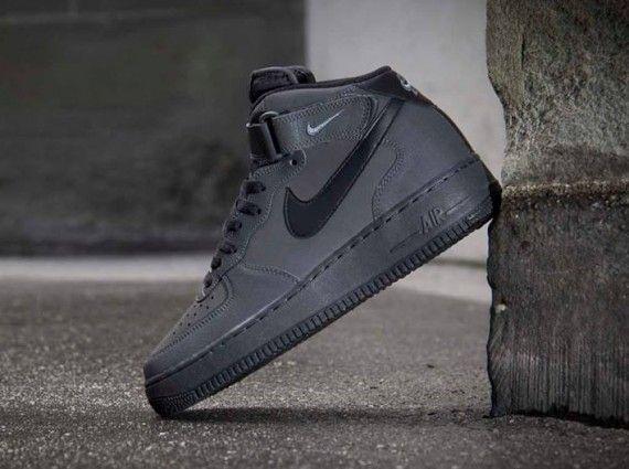 best loved 0fd74 d6384 Nike Air Force 1 Mid- Dark Charcoal  Black