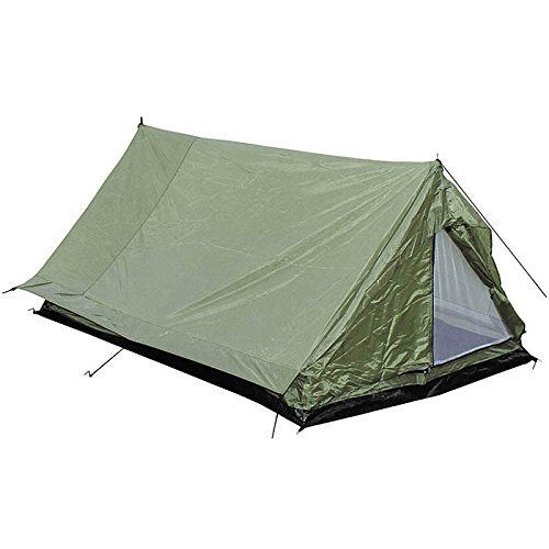 MFH 2 PERSON MINIPACK TENT CAMPING FESTIVAL HOLIDAY TRAVEL ARMY SHELTER OD GREEN