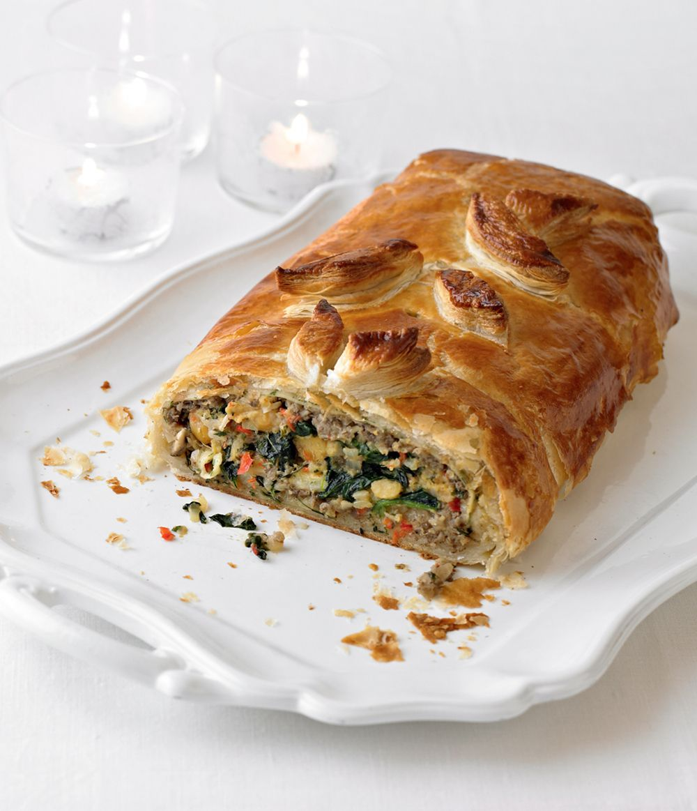 Chickpea, spinach and mushroom wellington from issue 10.