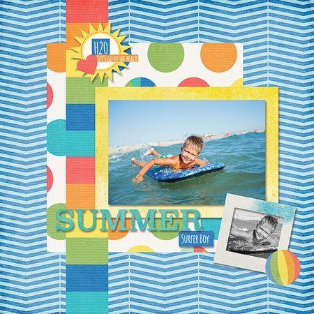 Summer Surfer Boy