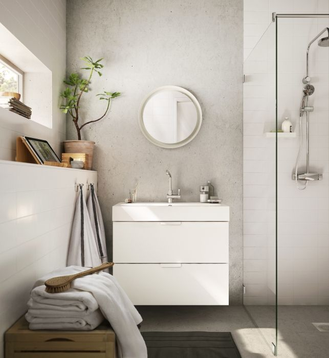Kleines Bad Ideen Orange Dusche Badewanne Holzregal Jpg 600 494
