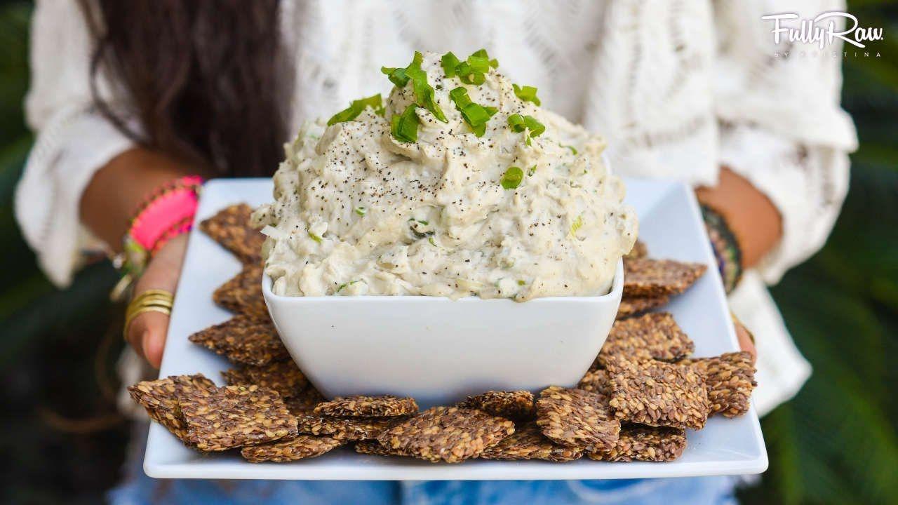 Best Onion Dip Recipe Ever Fullyraw Vegan Youtube Raw Vegan Snacks Raw Vegan Vegan Appetizers