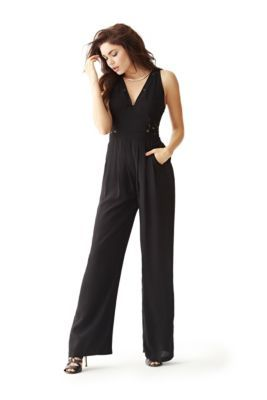 Sleeveless Lace Jumpsuit | GUESS.com