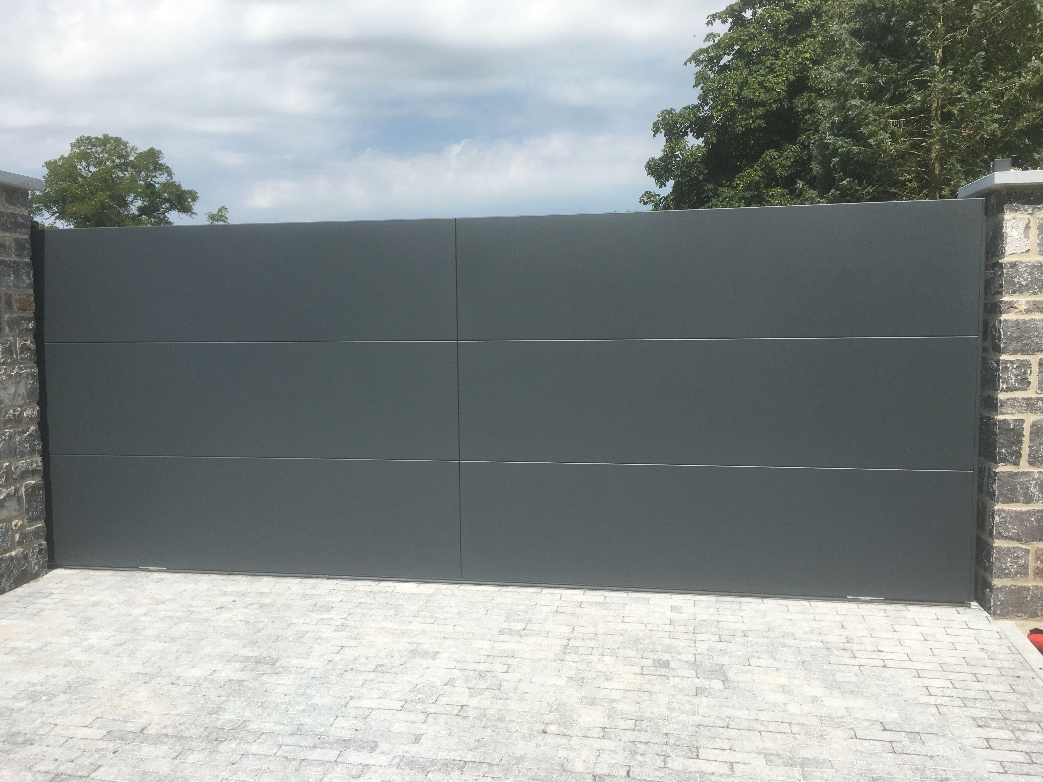 Portail Aluminium Horizon Www Toriportails Be Portones Para Garages Pinterest Portail Portail Coulissant Et Portail Aluminium