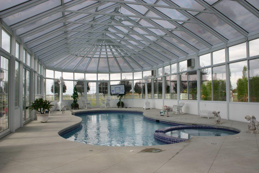 Pool Enclosure 3 Four Seasons Sunrooms Vancouver Pool Enclosures Pool Glass Enclosure