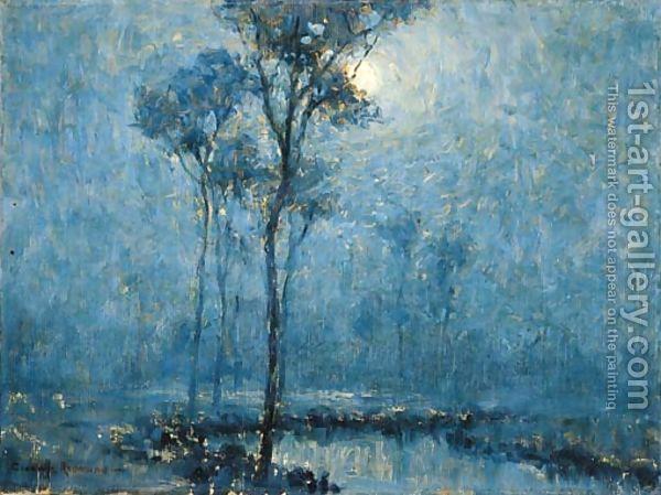 Moonlit Landscape Monochromatic Art Oil Painting Landscape Landscape Paintings