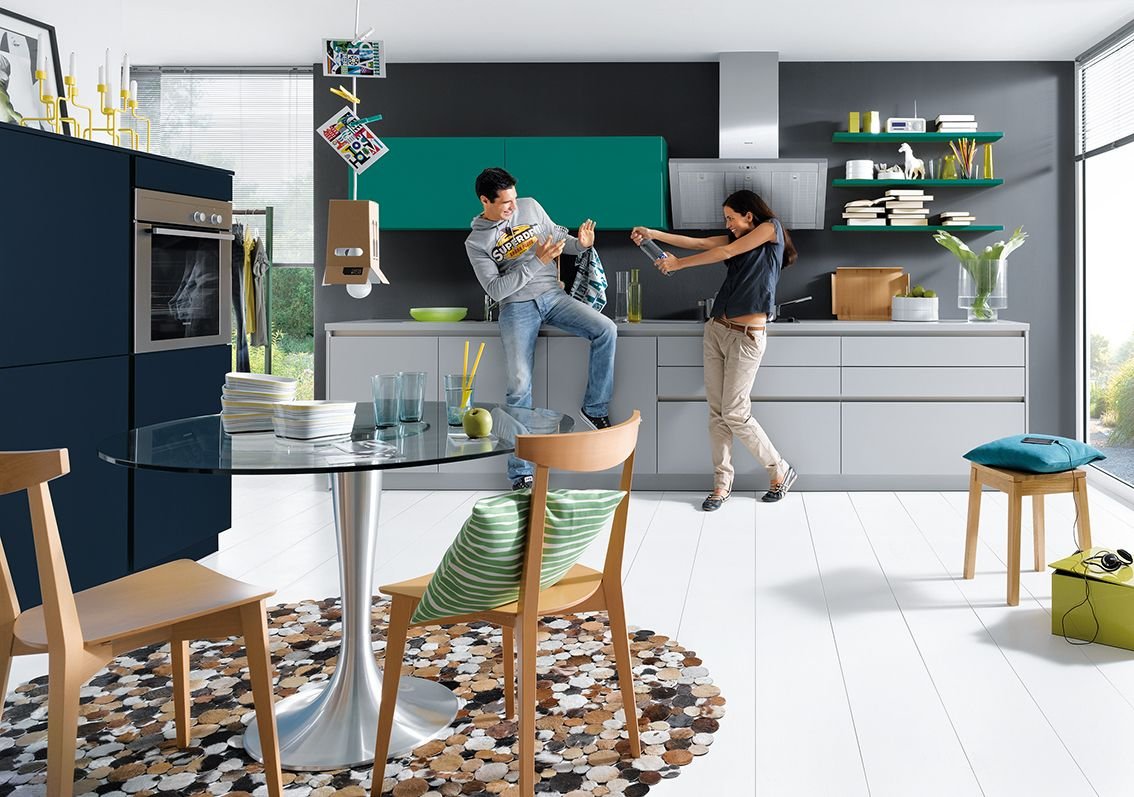 Create a fun and playful kitchen with Schüller Green