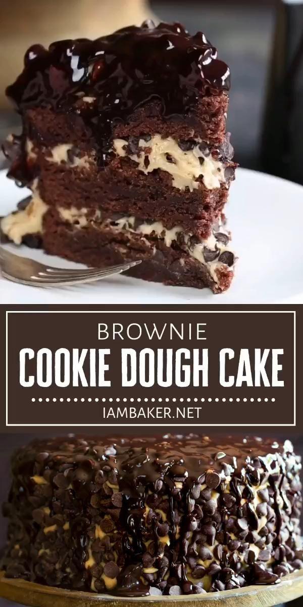 Brownie Cookie Dough Cake