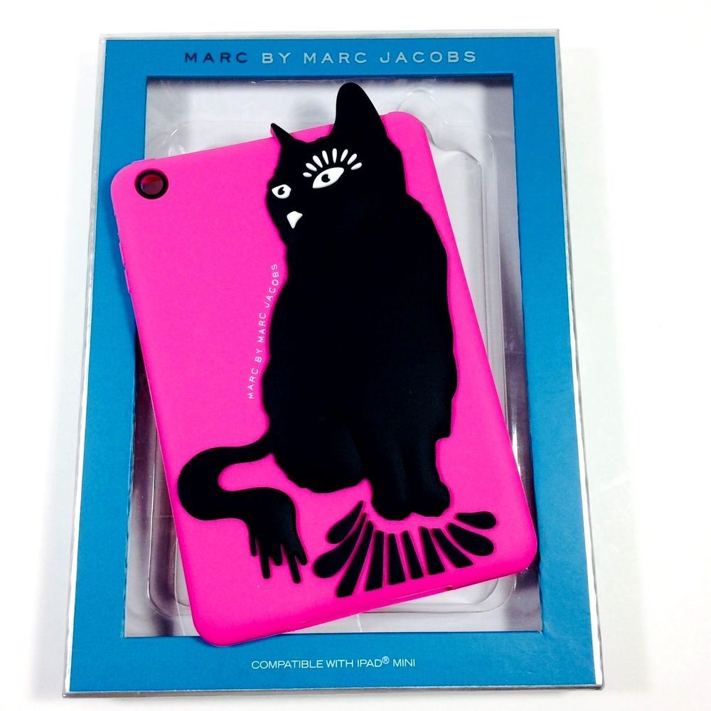 MARC JACOBS ELECTRONIC TABLET SLEEVE FOR IPAD MINI HOT PINK WITH BLACK  #MarcJacobs