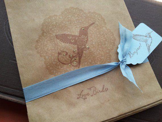Hummingbird Favor Bags Hummingbird Wedding Pinterest