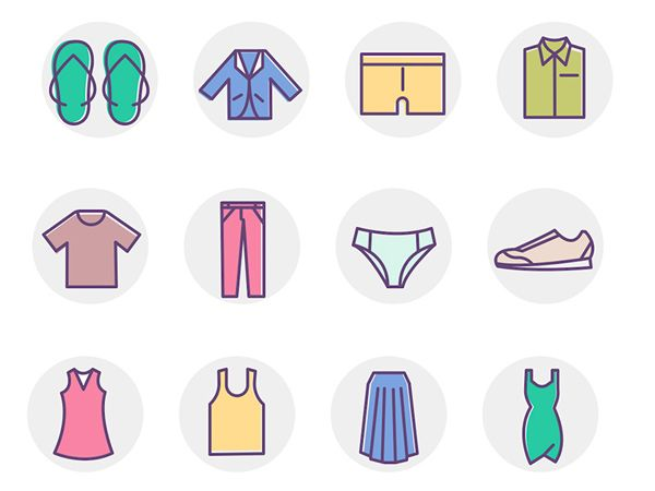 Iconos de ropas