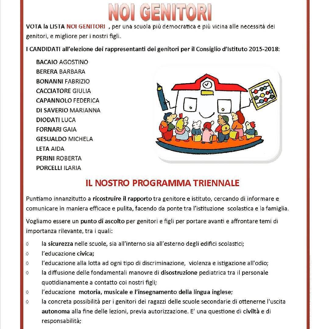 Per le elezioni del Consiglio d'istituto ci facciamo in 12! #cdi #noigenitori #elezioni #riano