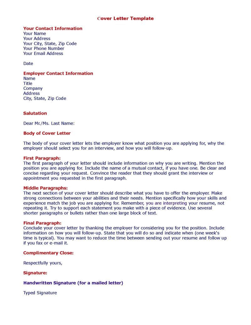 Cover Letter Template Job Application Resources Pinterest
