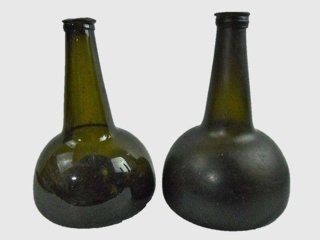 Two 18th C. Dutch Onion Bottles : Lot 73  www.JJamesAuctions.com