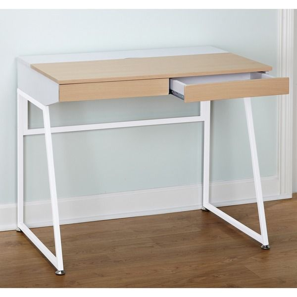 simple living eleanor computer desk overall dimensions 295 inches high x 355 inches wide