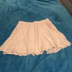 Forever 21 Dresses & Skirts - White skater skirt