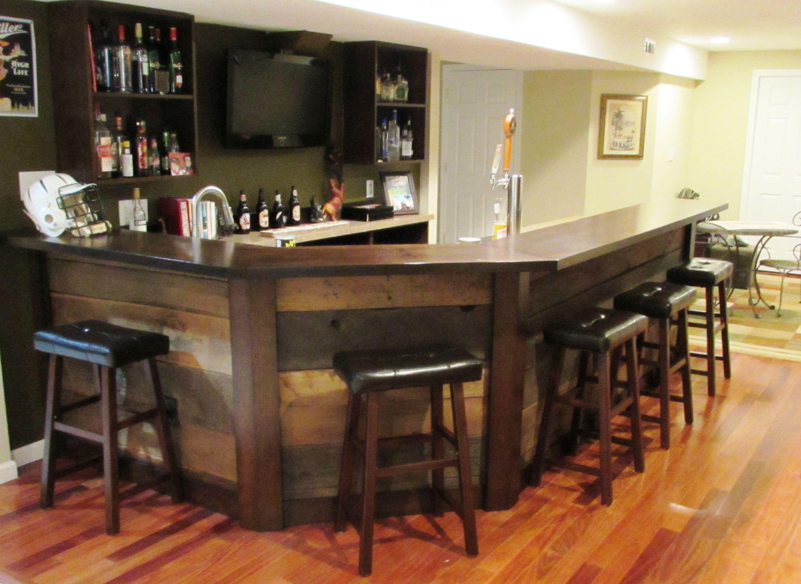 Bat Bar Remodel In Frederick Md Using Reclaimed Barn Wood