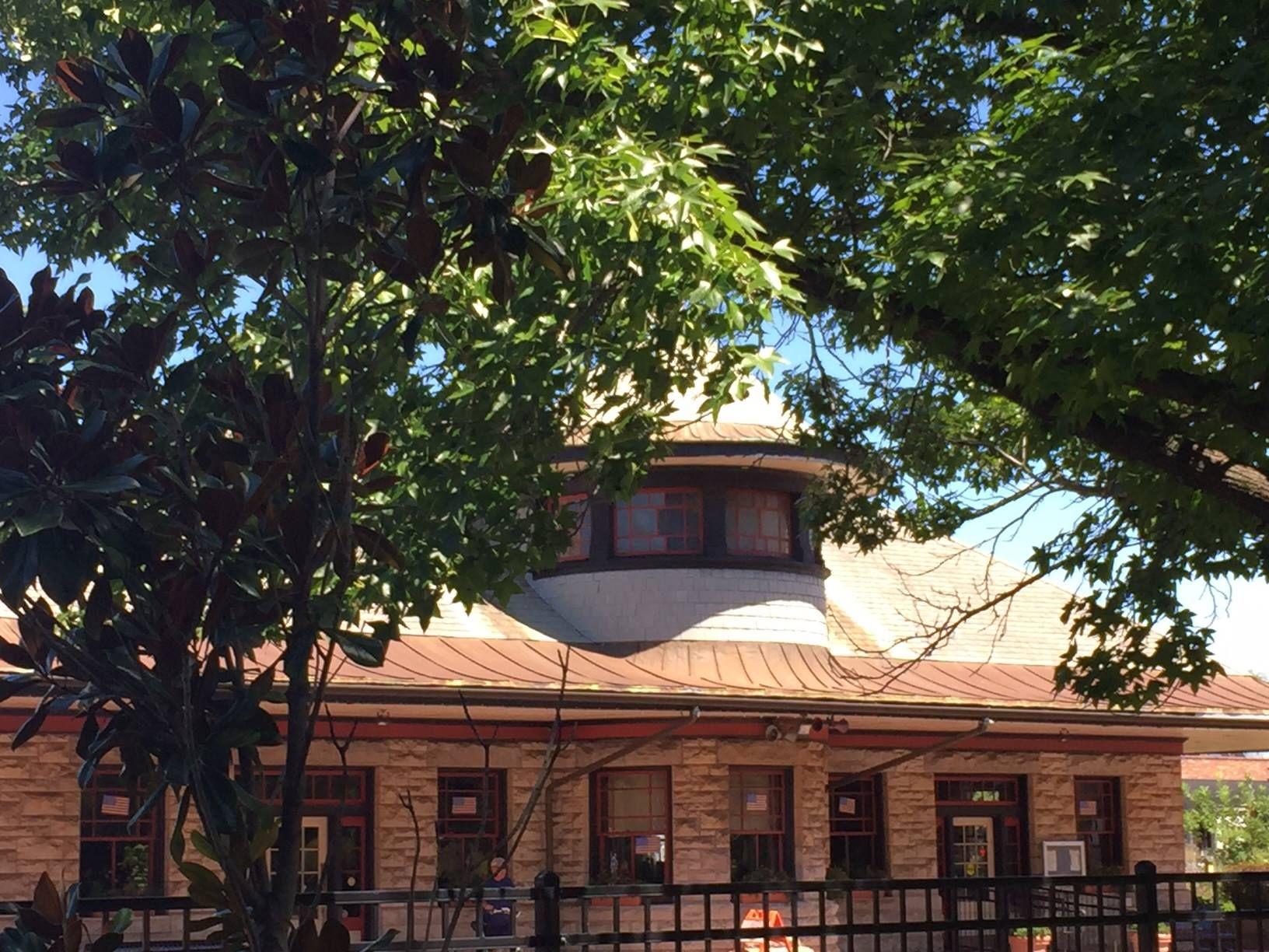 Our beloved Kirkwood train station, still served by Amtrak. Photo via the City of Kirkwood's web site.