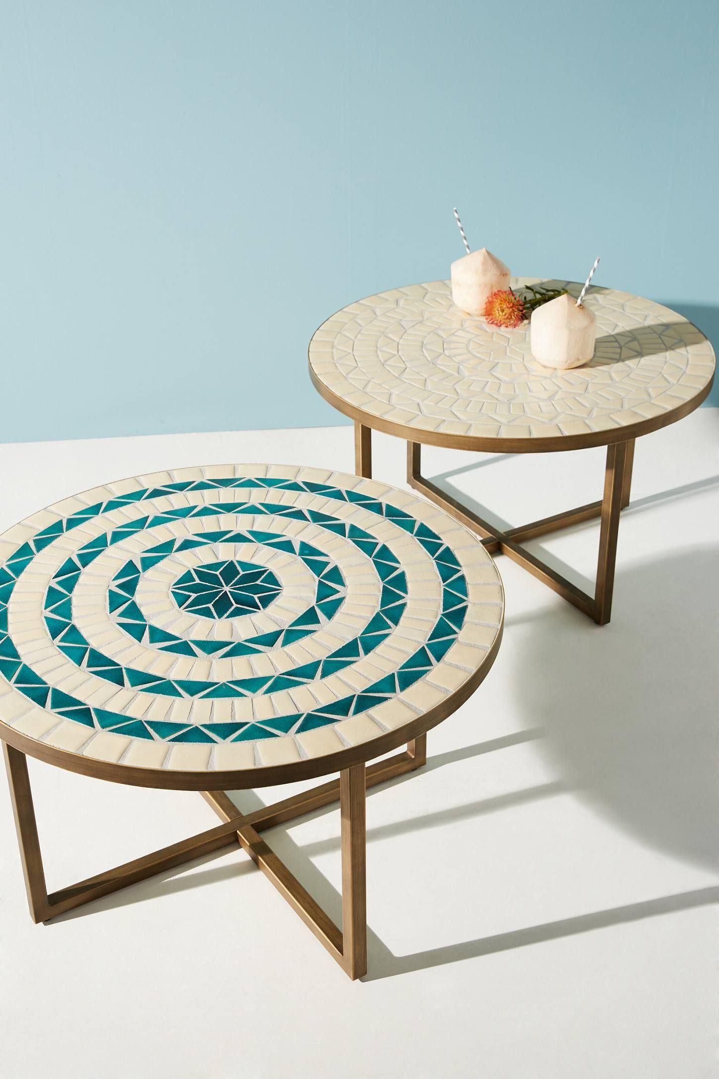 Tangier Indoor Outdoor Coffee Table Anthropologie Coffee Table Small Space Small Coffee Table Outdoor Coffee Tables