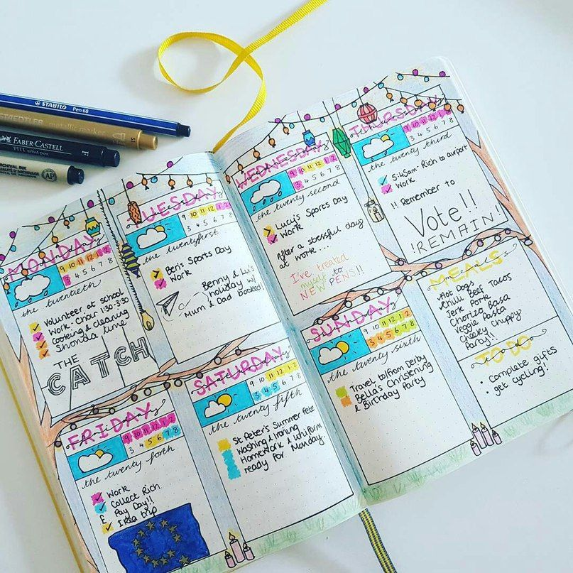 идеи для ежедневника фото