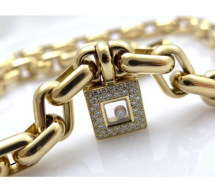 CHOPARD / HAPPY DIAMONDS COLLIER mit BRILLANTEN / 750 GOLD / BOX und PAPIERE   deta-schmuck.de