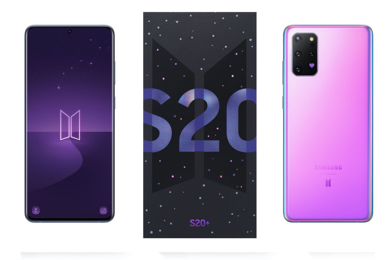 Samsung S Latest Special Edition Phone Is A Bts Branded Galaxy S20 Plus In 2020 Galaxy Bts Samsung