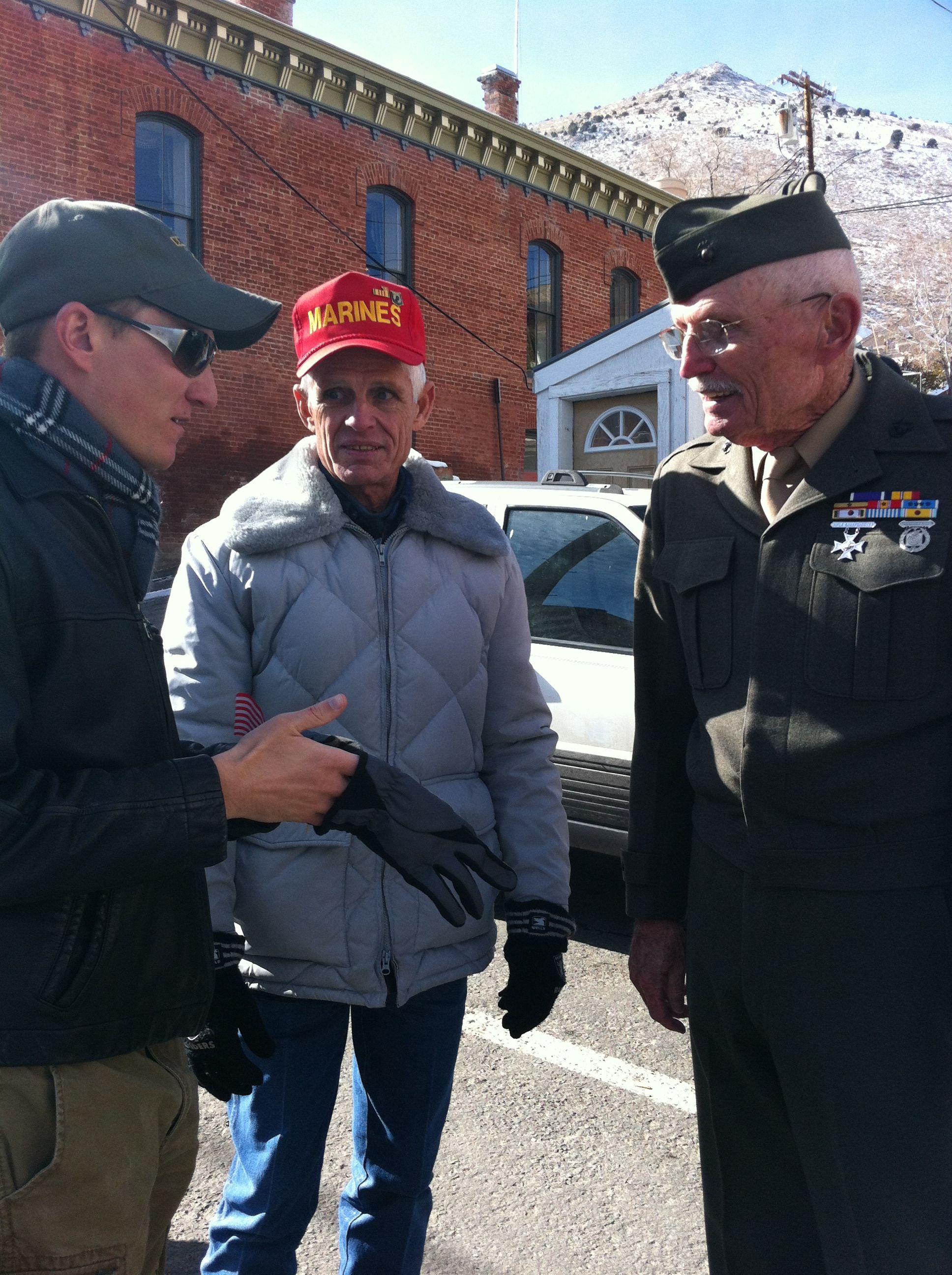 Korean,Vietnam, Iraq/Afghanistan veterans on vets day in Virginia city nv