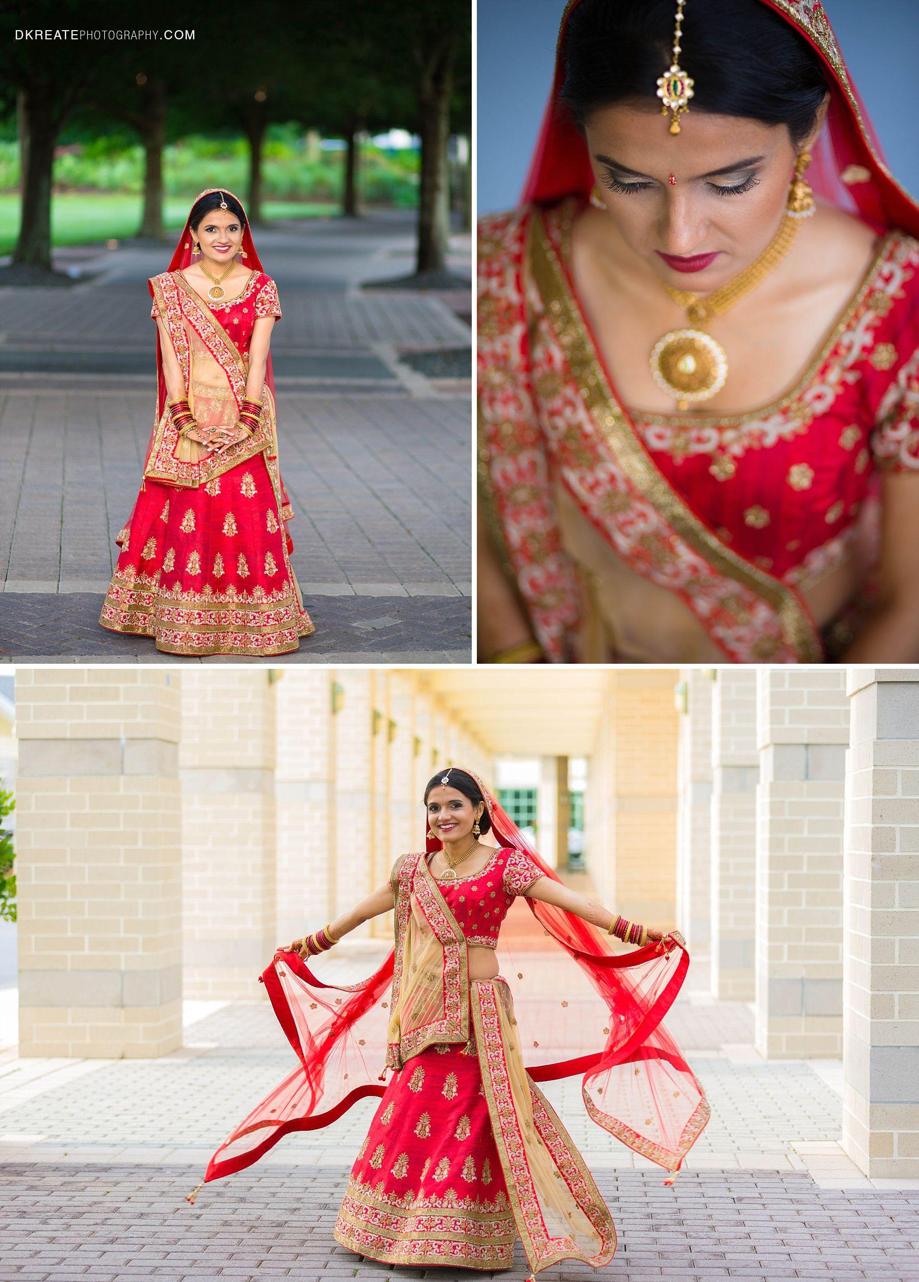 Red Beige Wedding Lehenga Simple Elegant Designer Bridal Jewelry