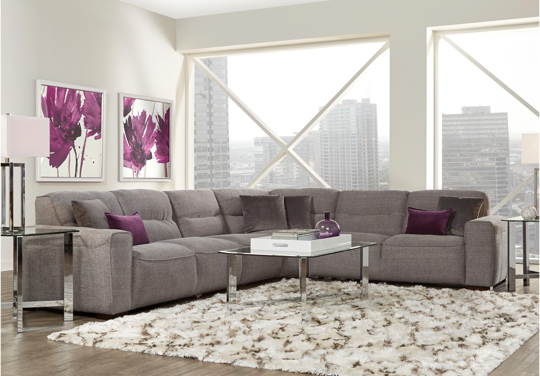 Ellis Graphite 7 Pc Sectional Living Room Upholstered Living Rooms Gray Living Room Sets Furniture Sectional Living Room Sets Living Room Sectional #upholstered #living #room #sets