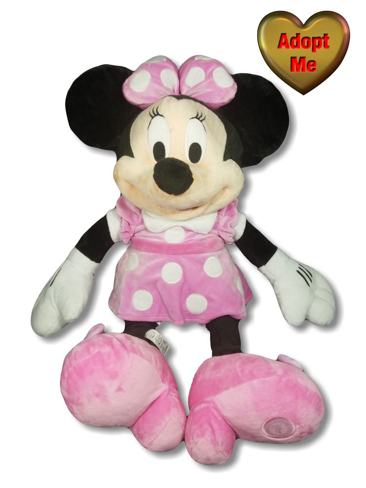 Disney Store Original 27in Large Minnie Mouse In Pink Dress Stuffed
