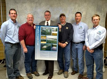 Hopkins County Coal reclamation award presentation with inspectors. Scroll to bottom of page for contact information.
