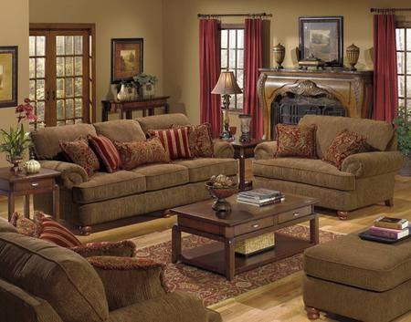434702k3 Belmont Collection 4 Pieces Living Room Set Sofa Loveseat Chair And Ottoman In Chenille