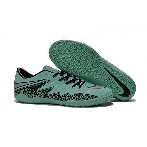 huge selection of 2a2ba 82dc7 Бутсы футбольные Nike Hypervenom Phelon II IC МУЖСКАЯ Зеленый черный  серебряный Indoor Soccer Cleats, Mens