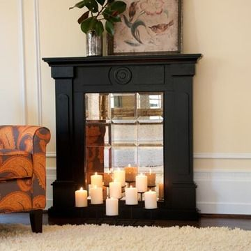 Angelo Home Beekman Mirrored Mantel Facade By Upton Home Mantels Decorating And Faux Fireplace