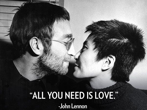 All You Need Is Love The Iconic Single Written By Beatles Star John Lennon Who Would Have Turned 72 Yea John Lennon And Yoko John Lennon Love John Lennon