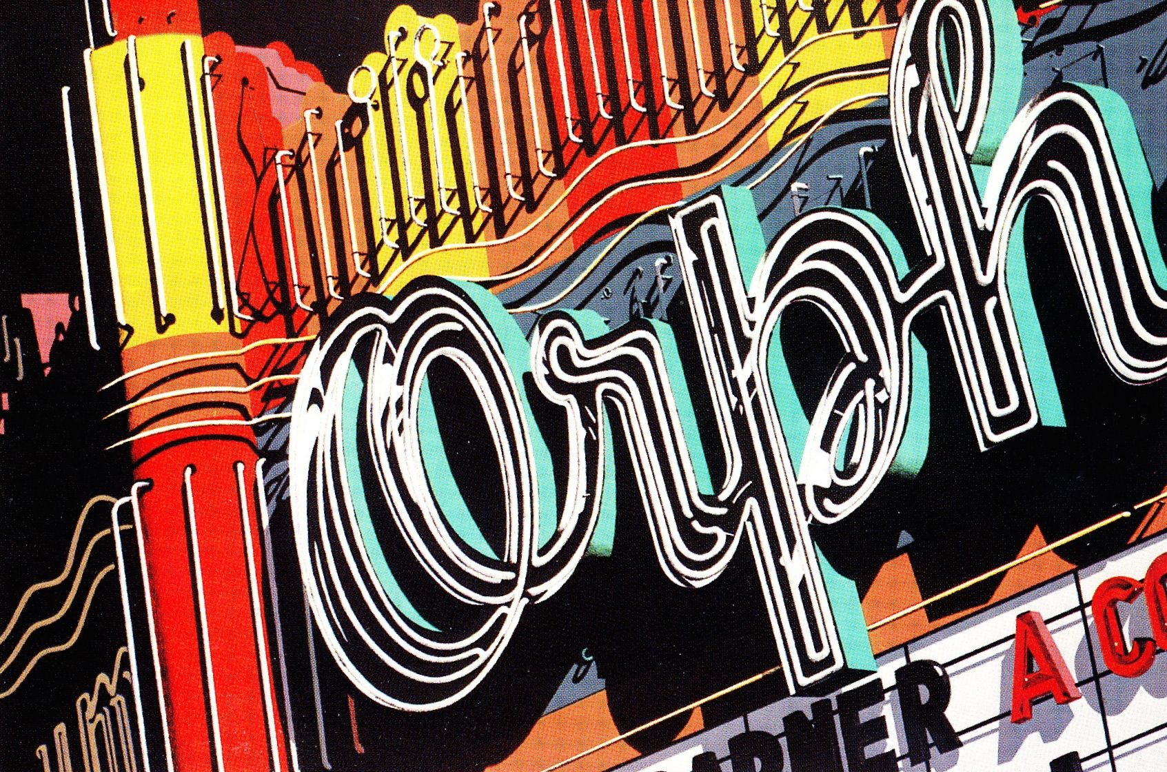 Robert Cottingham, Orph, color lithograph,1972 Artwork
