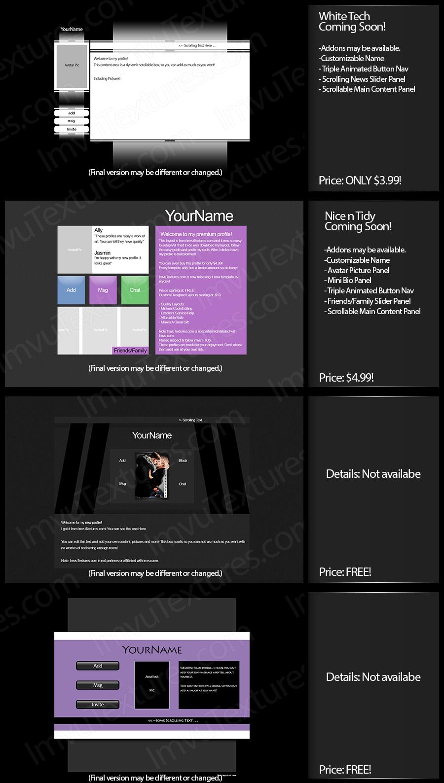 IMVU Textures For Creators | IMVU Profile Layouts | Pinterest