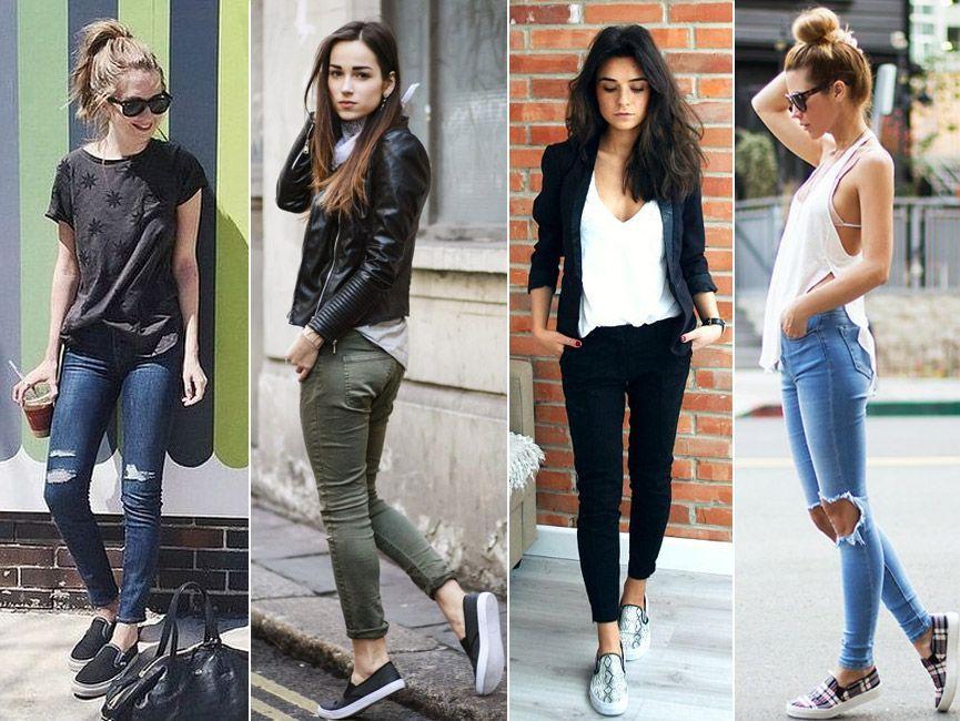 f71ff73ca748 A nova moda do momento são os tênis slip on feminino, com eles é possível  montar diversos looks super modernos! Veja 90 fotos de looks perfeitos!