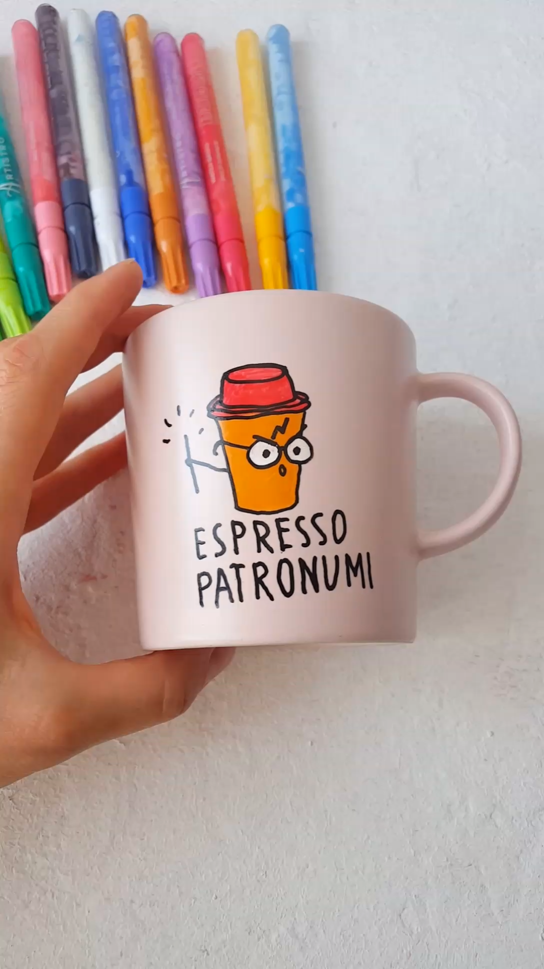 Harry Potter Inspired Mug Design Hand Painted With Artistro Acrylic Markers Paint Pens Funny Cup Design Funny Mug Design Ideas Perfe Video