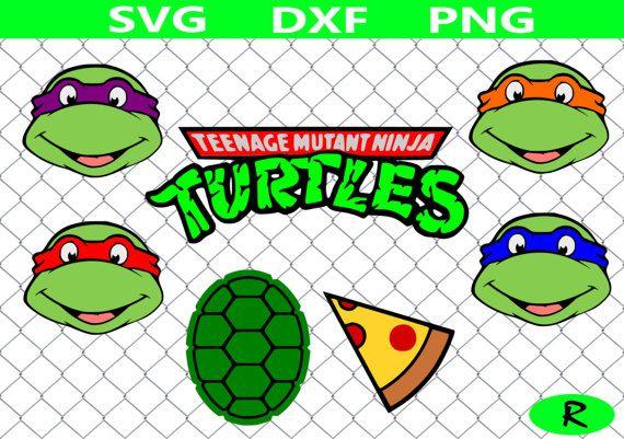 Ninja Faces Kawaii Ninja pnj Ninja Turtles SVG Ninja Clip Art Set dxf Instant download svg eps Teenage Mutant Ninja Turtle