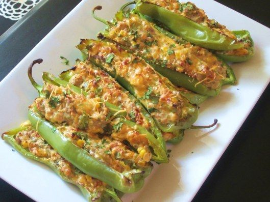 Sausage Stuffed Peppers Stuffed Peppers Peppers Recipes Stuffed Banana Peppers