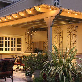 Feit 48ft (14.6m) Indoor/Outdoor Weatherproof String Lights Set + 36 ...