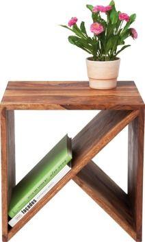 Kare Design Stolik Authentico Zigzag Cube Furniture Bedside Table Diy Side Table Wood