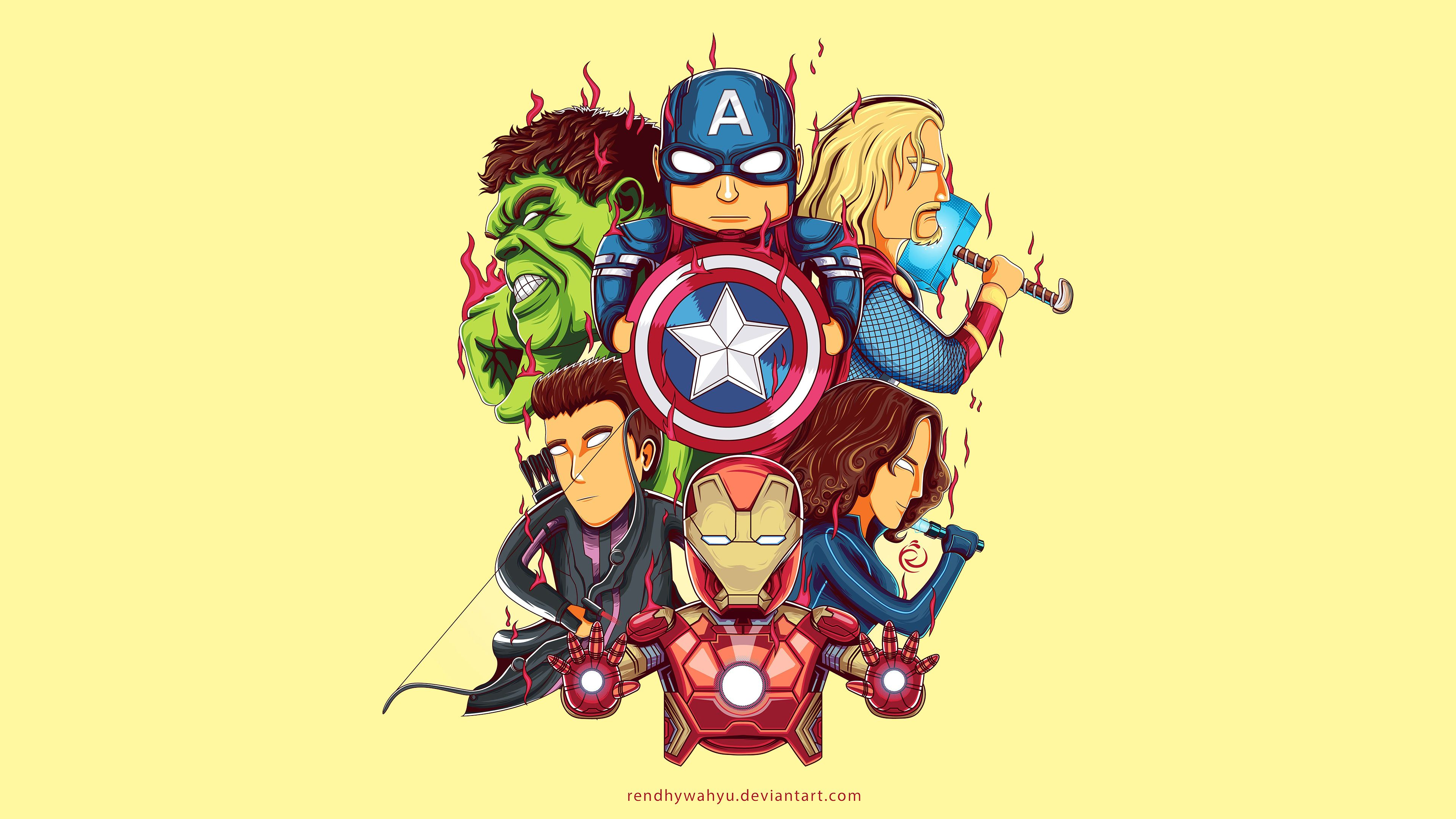 Little Avengers 4k Art Thor Wallpapers Superheroes Wallpapers Iron Man Wallpapers Hulk Wallpapers Hd Wa Thor Wallpaper Cartoon Wallpaper Avengers Wallpaper