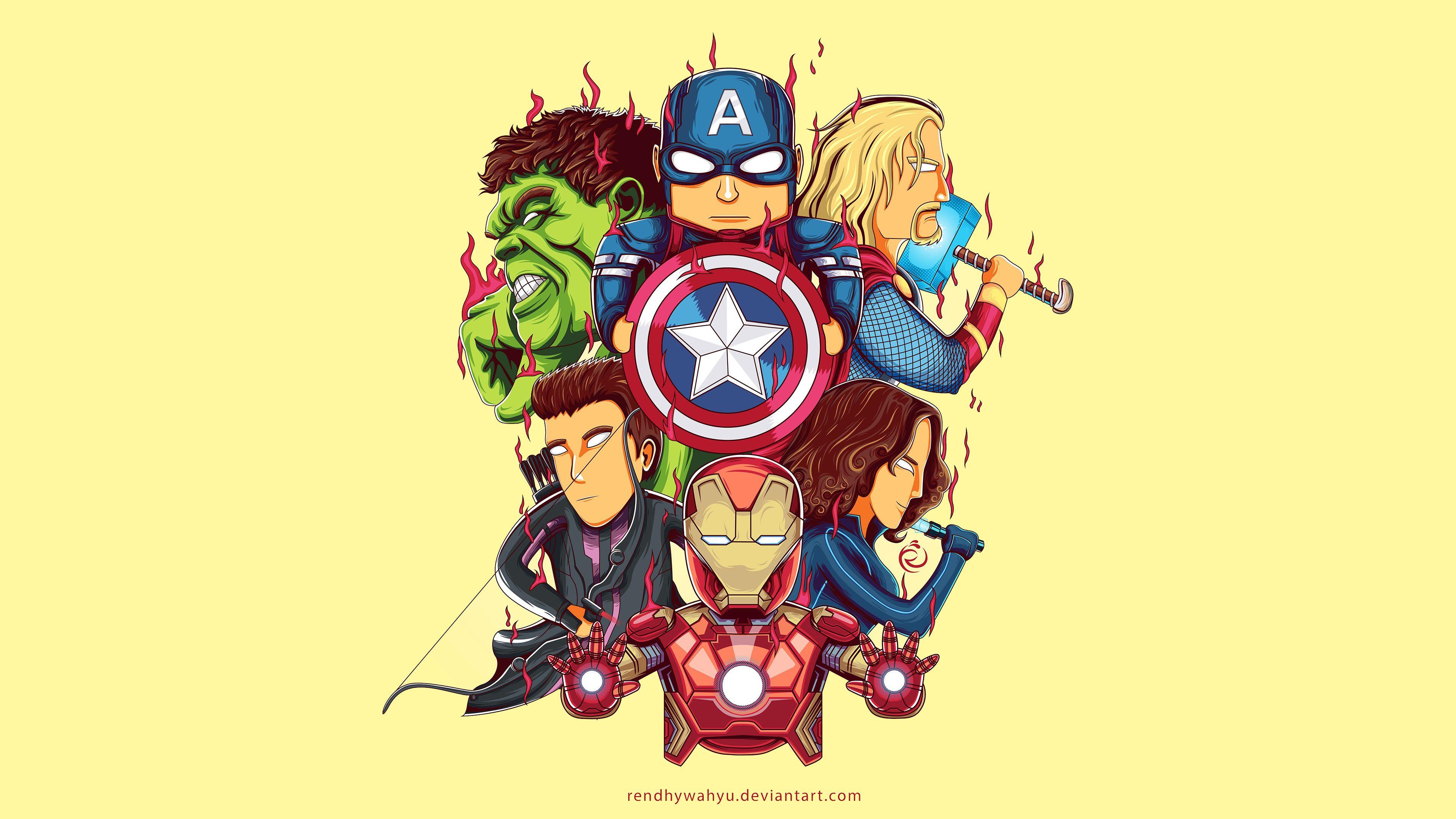Little Avengers 4k Art Thor Wallpapers Superheroes Wallpapers Iron Man Wallpapers Hulk Wallpapers Thor Wallpaper Captain America Wallpaper Cartoon Wallpaper