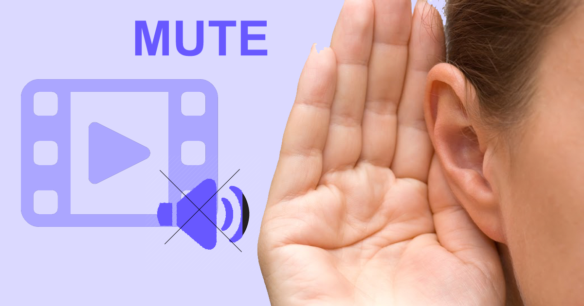 Remove audio from video online using a free Mute Video