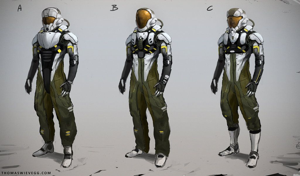 Suit concepts by thomaswievegg astronaut pilot spacesuit for Space suit fabric